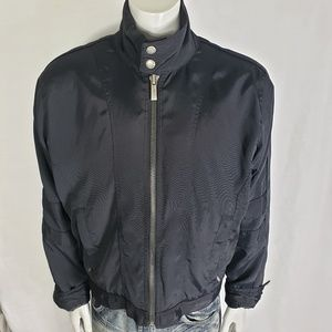 Kenneth Cole Mens Black Motor Bike Jacket Large